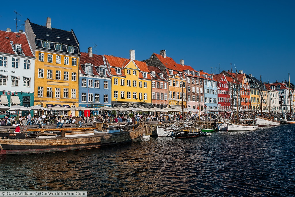 Nyhavn: No better place to spend a few hours in the sun, Copenhagen, Denmark