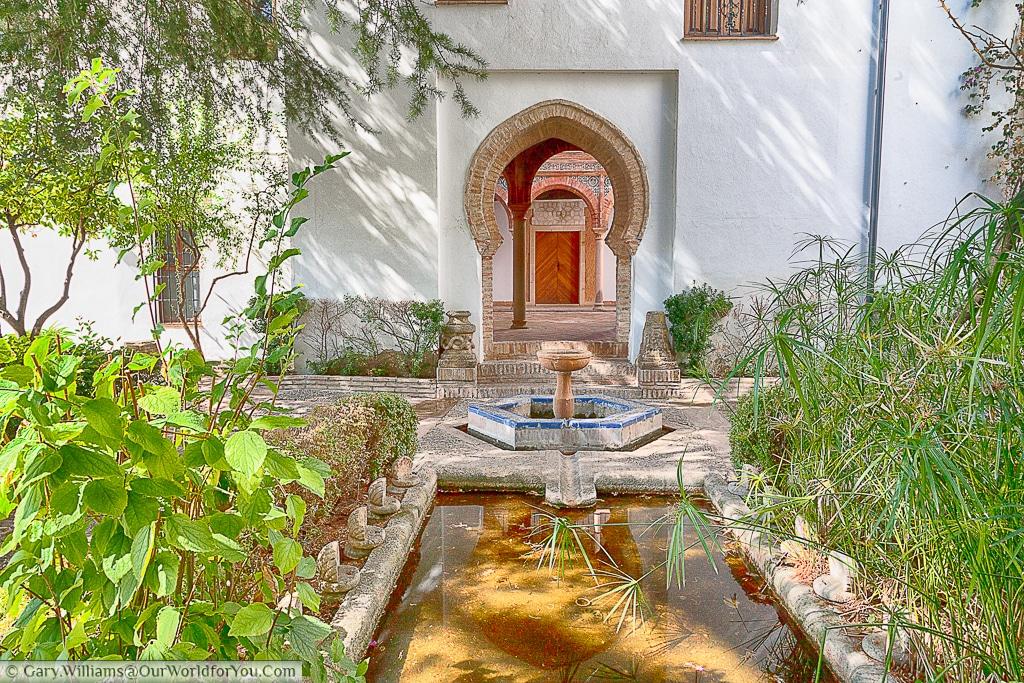 The gardens of the Palacio de Mondragón, Ronda, Spain