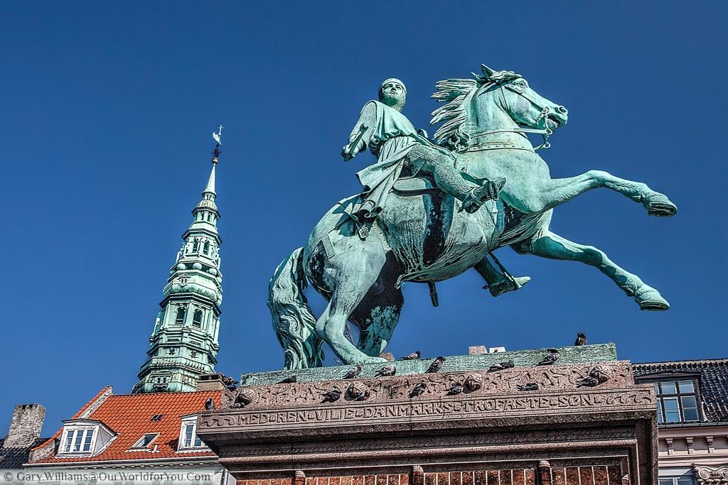 The equestrian statue of Bishop Absalon, Copenhagen, Denmark