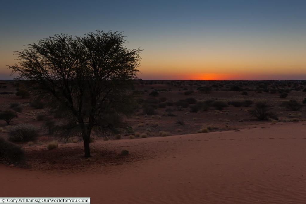 Sundowners at the Bagatelle Kalahari Game Ranch, Namibia