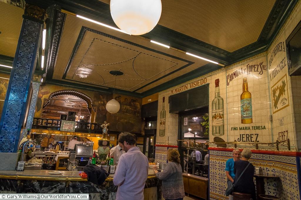 Inside Café Iruña, Bilbao, Spain