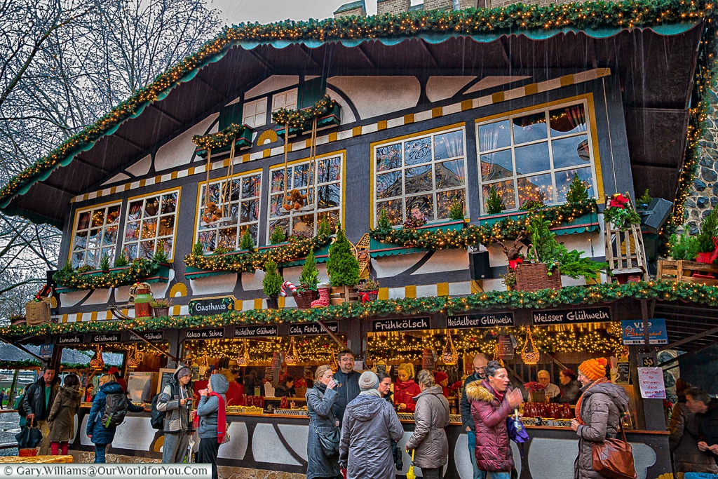 So much detail in the huts at the Christmas Markets, Cologne, Germany