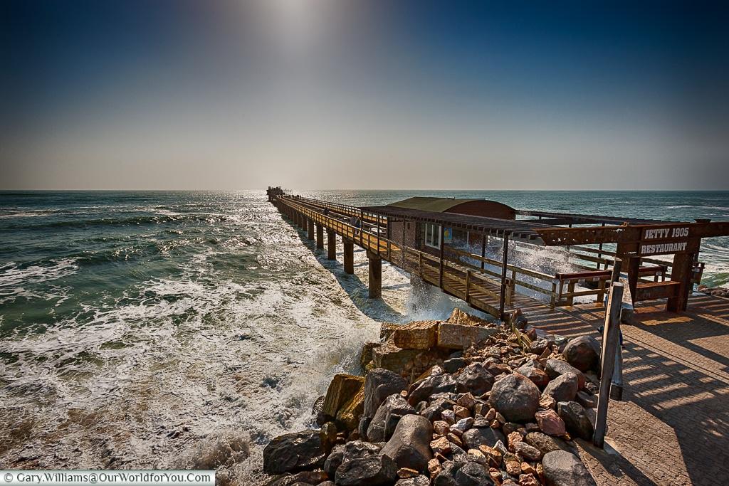 The old jetty, Swakopmund, Namibia