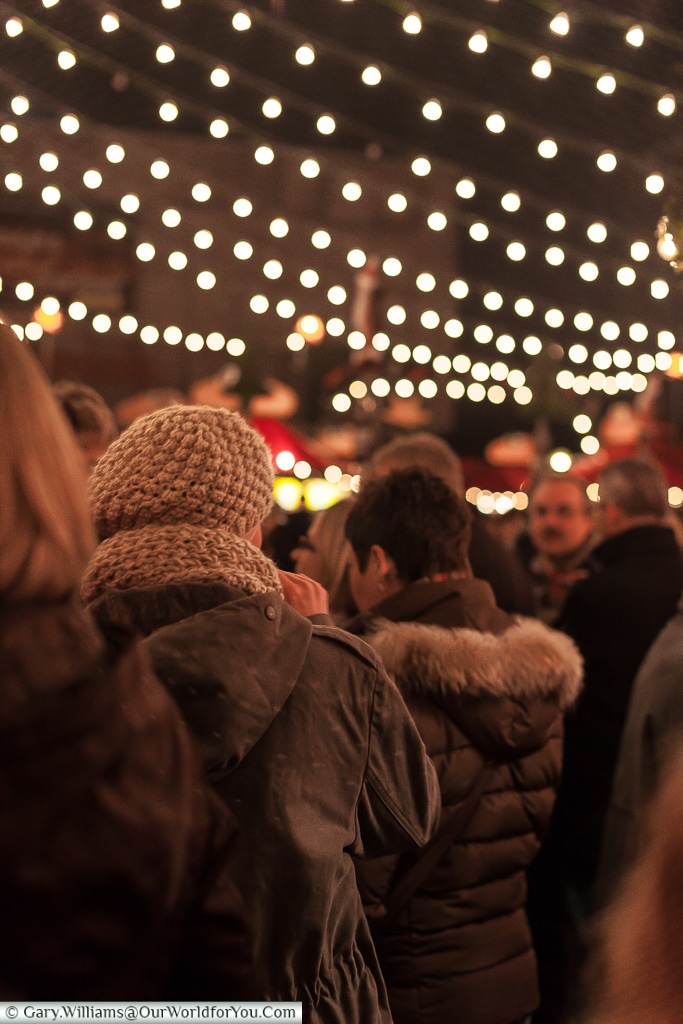 The crowds at the Christmas Markets, Cologne, Germany