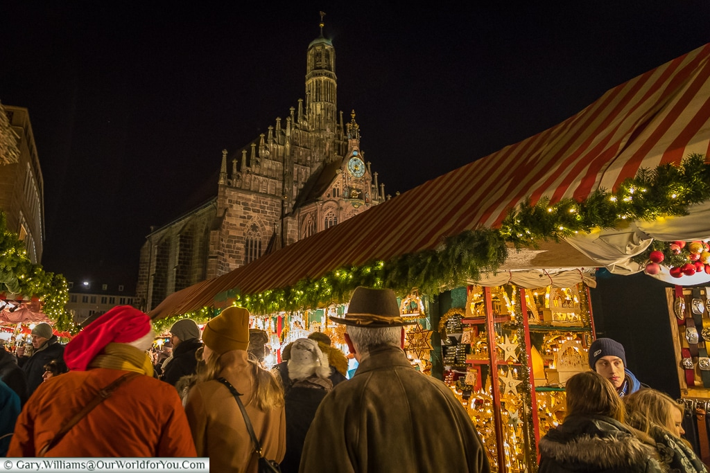 Wandering through the Christkindlesmarkt, Nuremberg, Germany