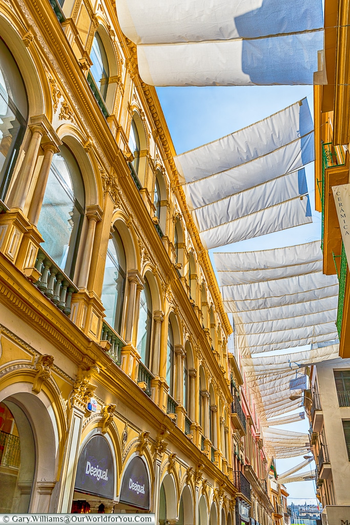 Calle Sierpes by day. Seville, Spain