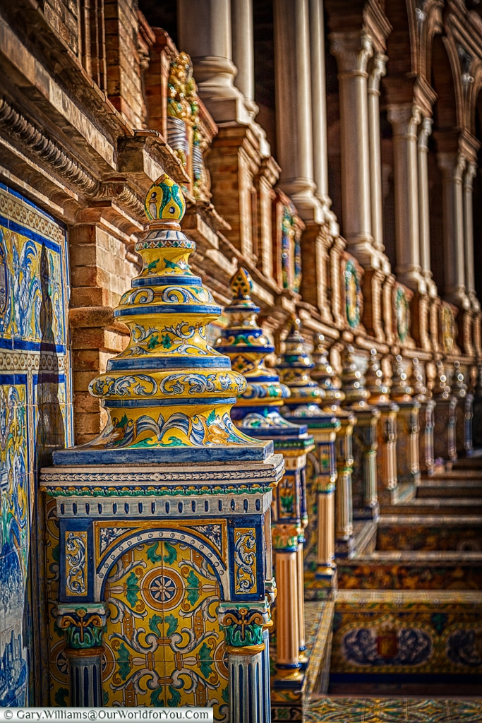 The detail in the Plaza de España is stunning, Seville, Spain