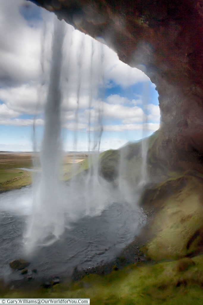 Seljalandsfoss - spray can be a problem - part of the Golden Circle, Iceland