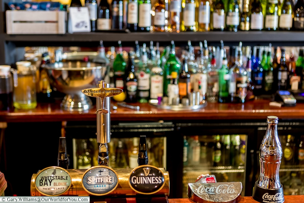 The bar of the Britannia, Dungeness, Kent, UK
