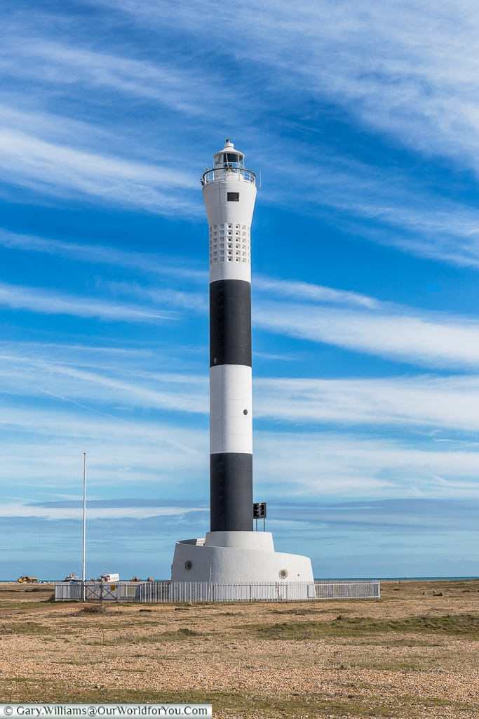 The current lighthouse, Dungeness, Kent, UK