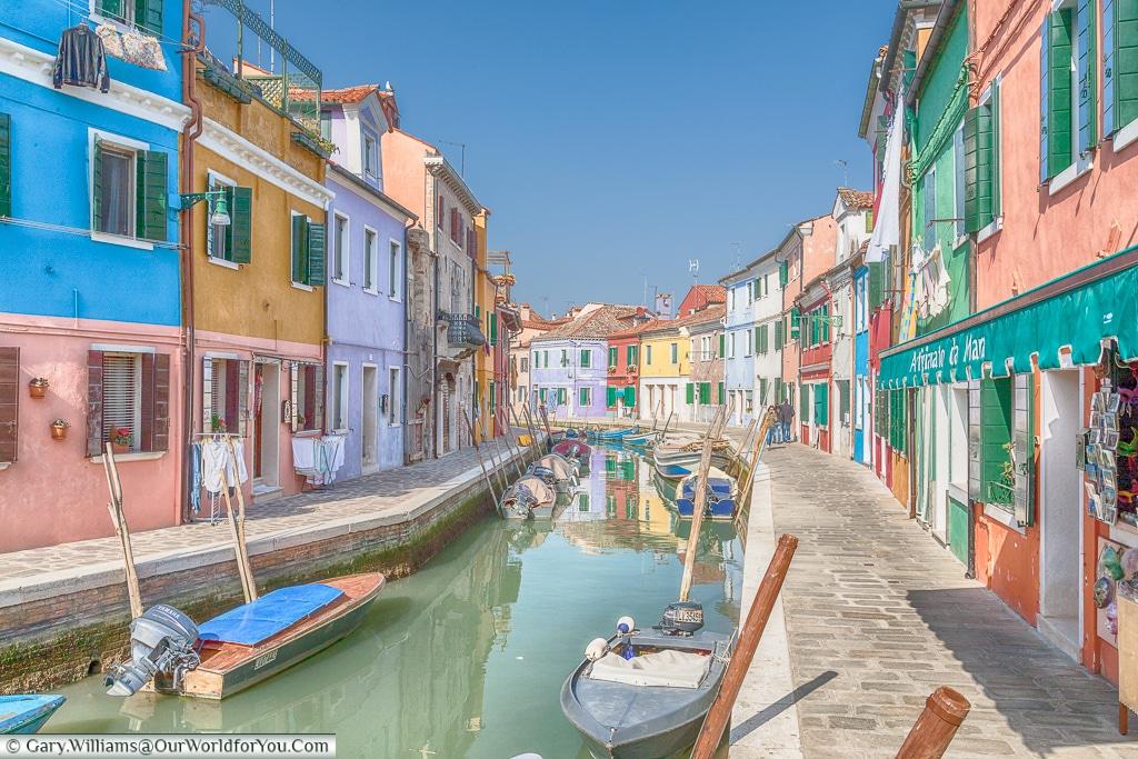 A quiet spot, Burano, Venice, Italy