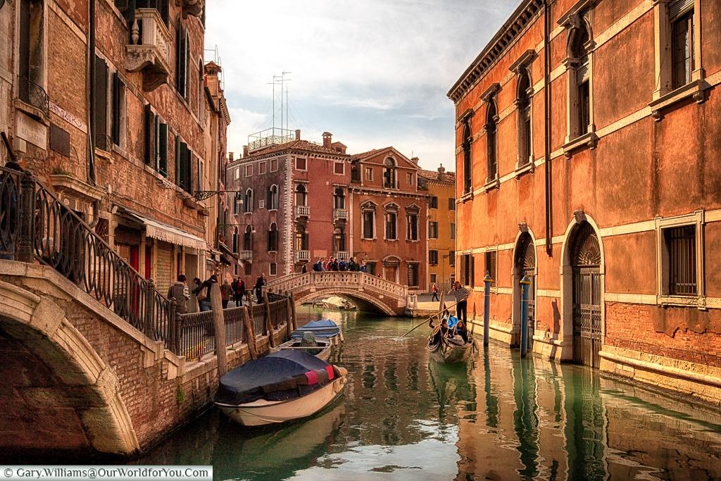 Evening on the Rio del Frari, Venice, Italy