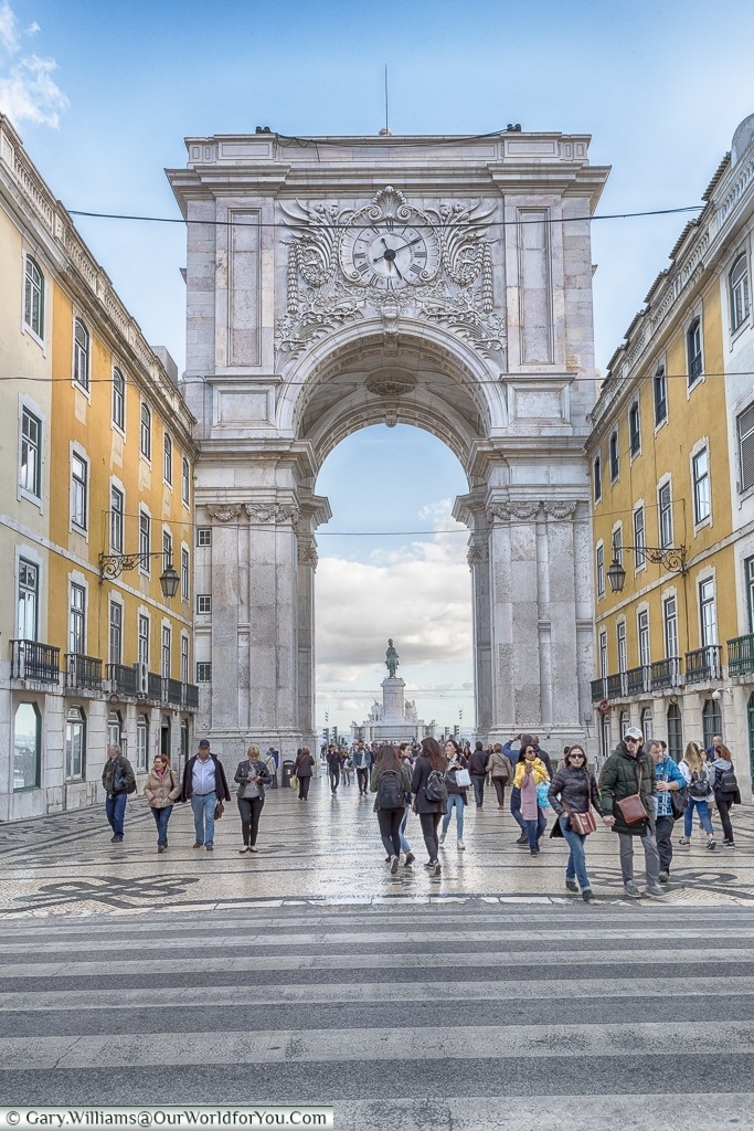 Rua Augusta - looking back at the arch, Lisbon, Portugal