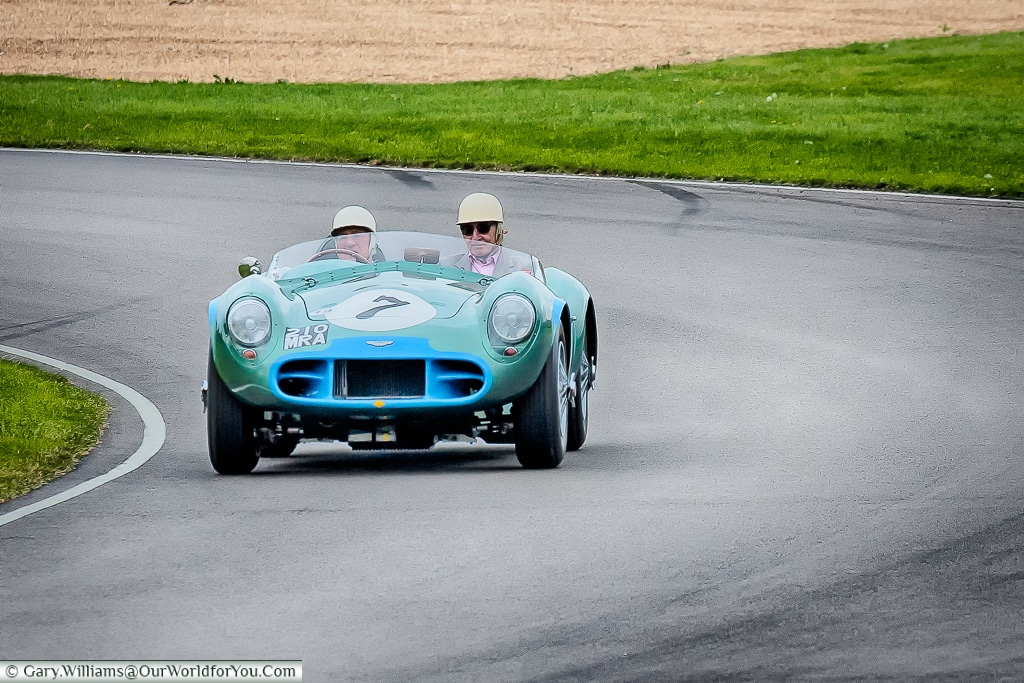 Sir Stirling Moss in an Aston Martin, Goodwood Revival, UK