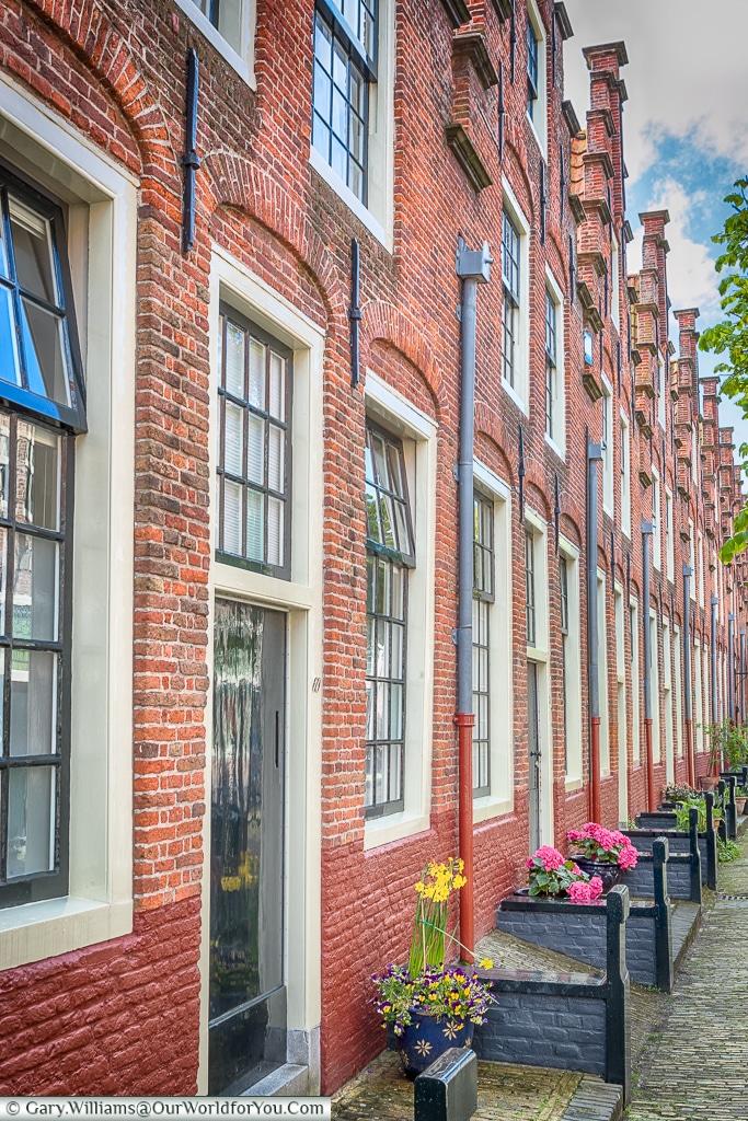 The almshouses Haarlem, Holland, Netherlands