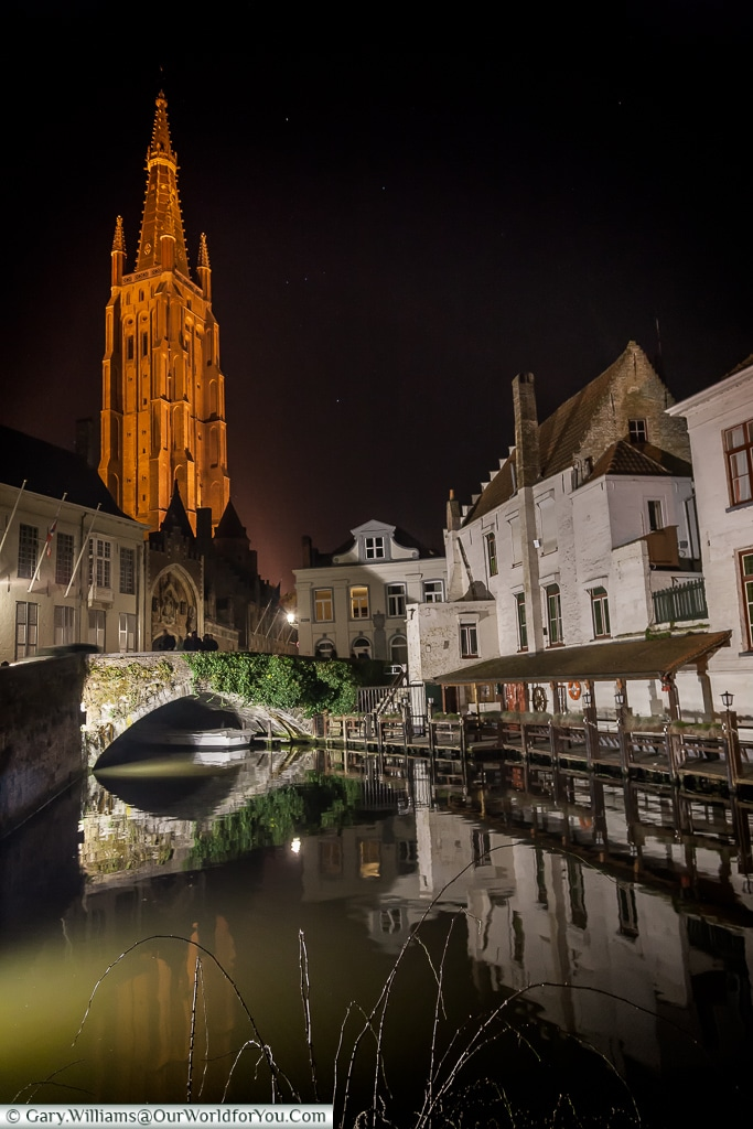 The tower of Church of Our Lady Bruges,Bruges, Belgium