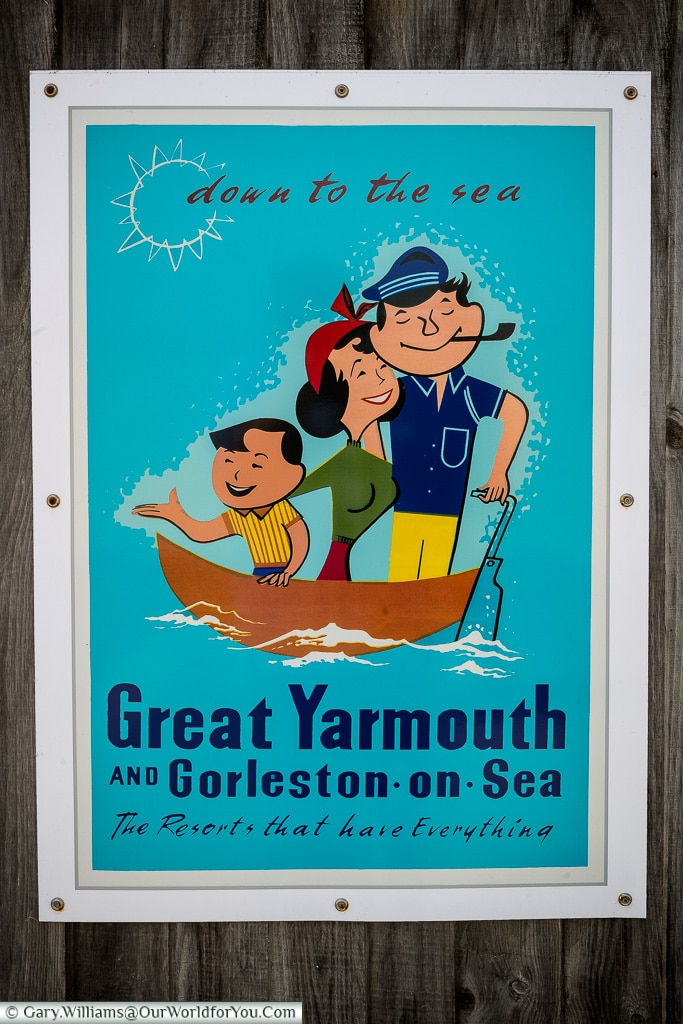 A period poster from Great Yarmouth, Norfolk, England, Great Britain