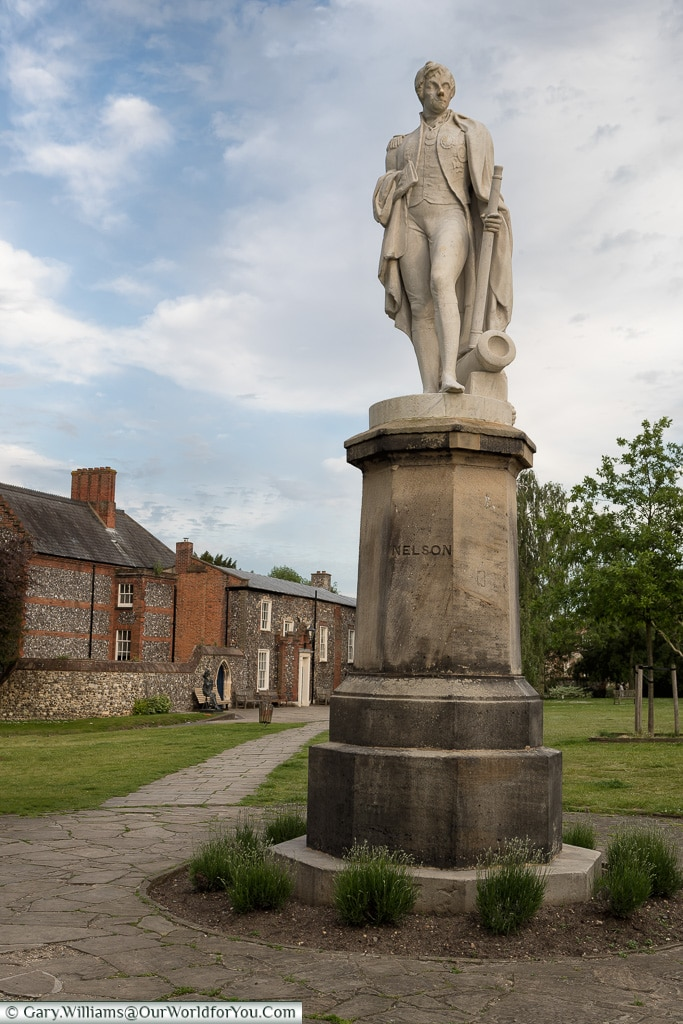 A statue of Nelson, Norwich, Norfolk, England