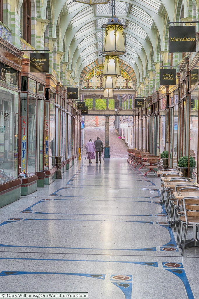Inside the Royal Arcade, Norwich, Norfolk, England