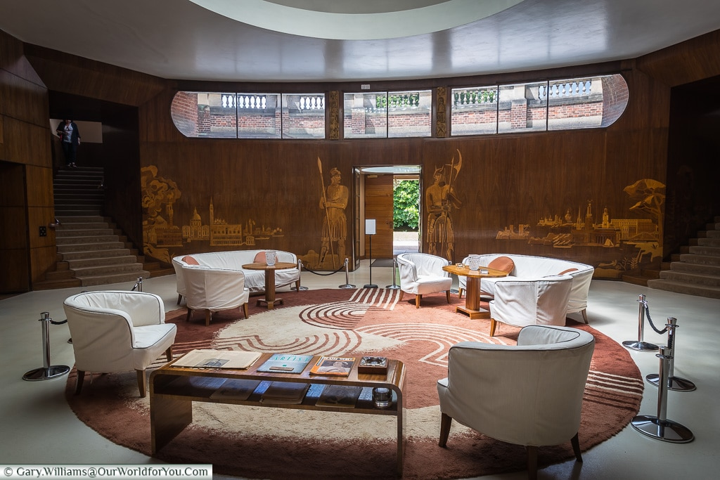 The entrance area, Eltham Palace, London, England, UK