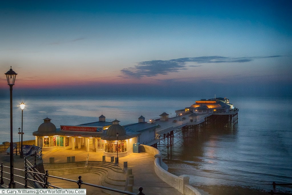 The pier at dusk, Cromer, Norfolk, England, UK