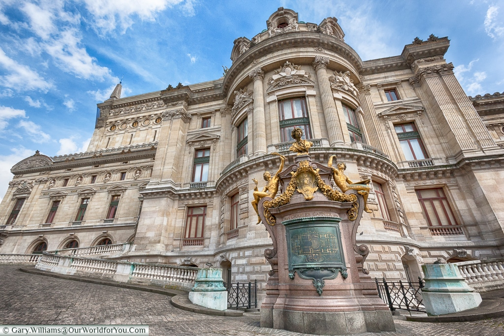 he side view of the Opera, Paris, France