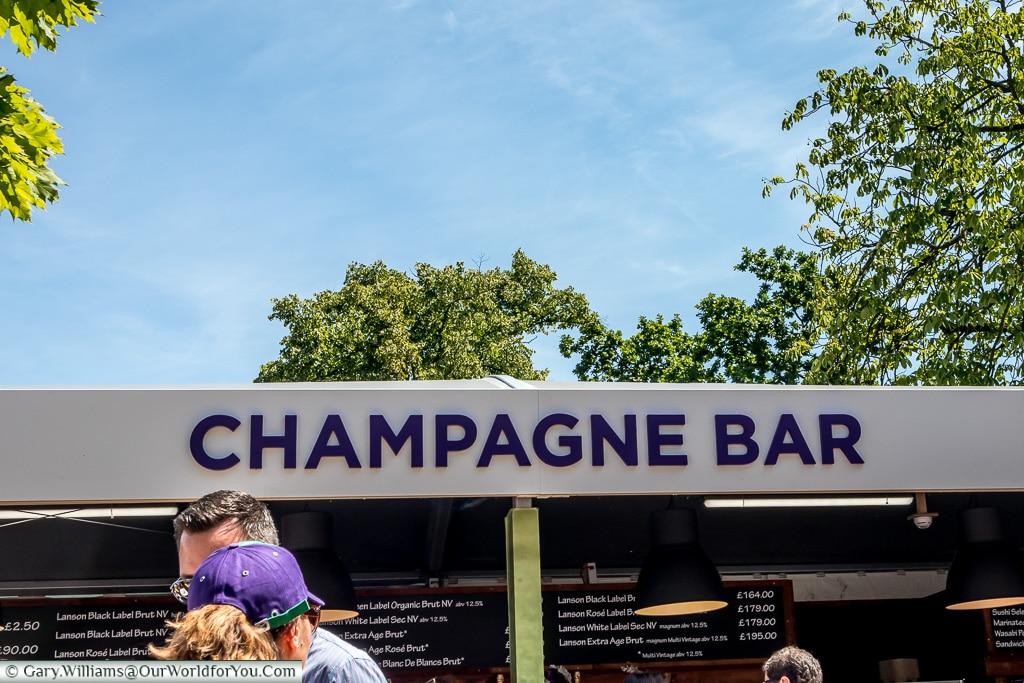 The Champagne Bar, Tennis, Wimbledon, London, England, UK