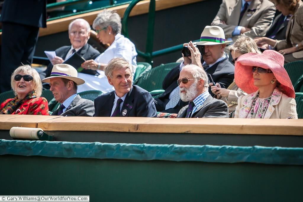 The Royal Box, Tennis, Wimbledon, London, England, UK