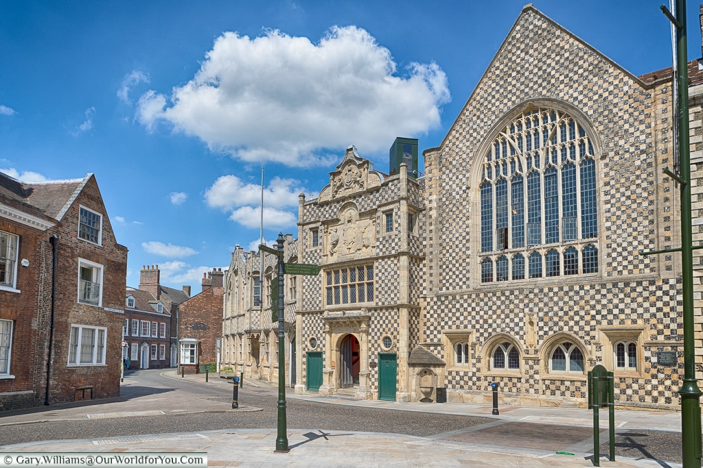 The Town Hall and Trinity Guildhall ,King's Lynn, Norfolk, England, UK