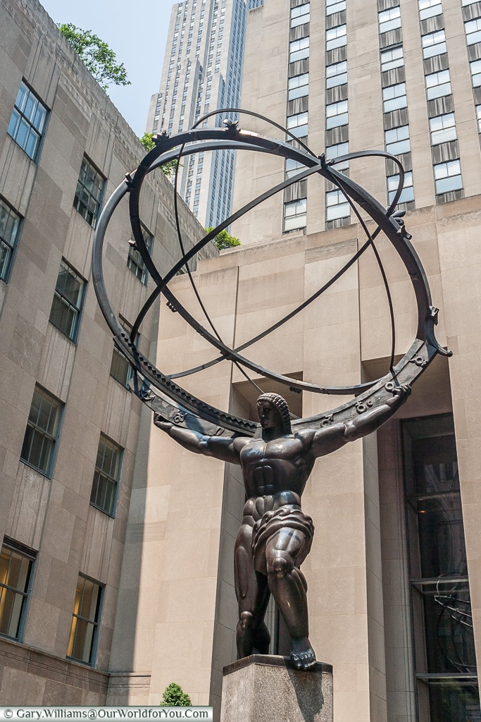 The Atlas Statue in the Rockefeller Centre, Manhattan, New York,