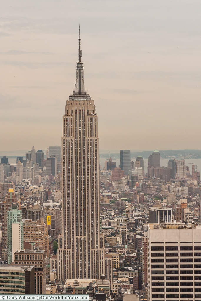The Empire State Building from the Rockefeller Centre, Manhattan