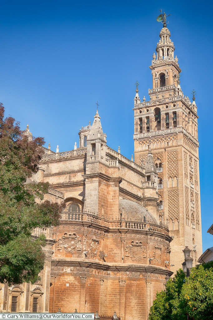 La Giralda - The Cathedral Tower, Seville, Andalusia, Spain