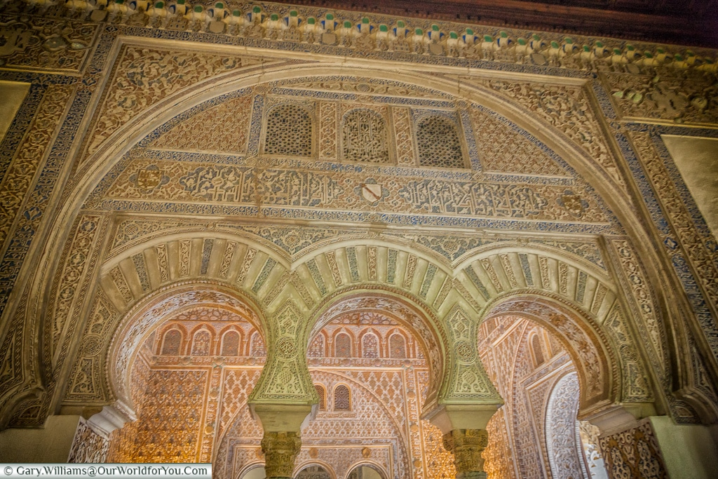 Moorish design in the Alcázar, Seville, Andalusia, Spain