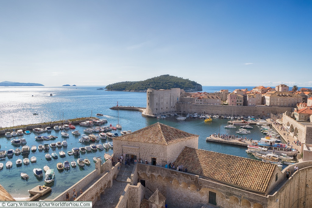 Overlooking the harbour, Dubrovnik, Croatia