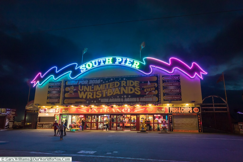 The South Pier, Blackpool Illuminations, Lancashire, England, UK