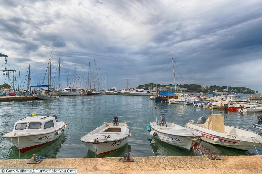 Clouds over the harbour, Porec, Croatia