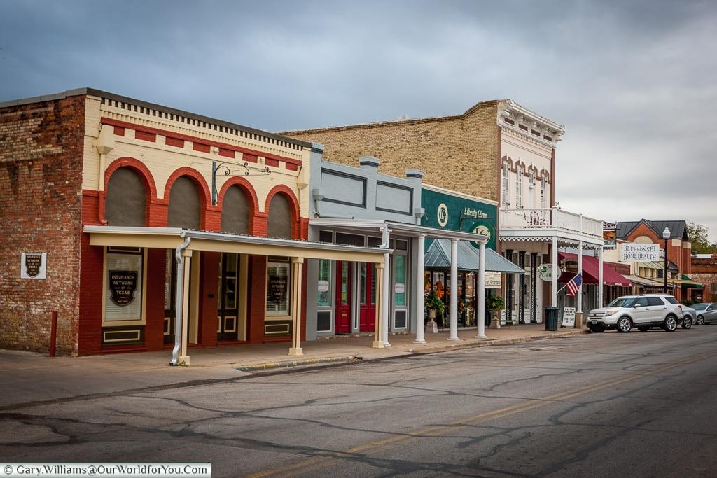 Main Street, Balstrop, Texas, America, USA