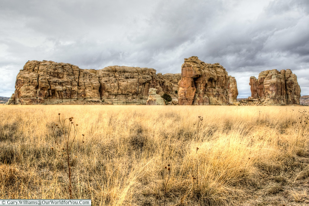Natural Rocks on the way to Taos, New Mexico, America, USA