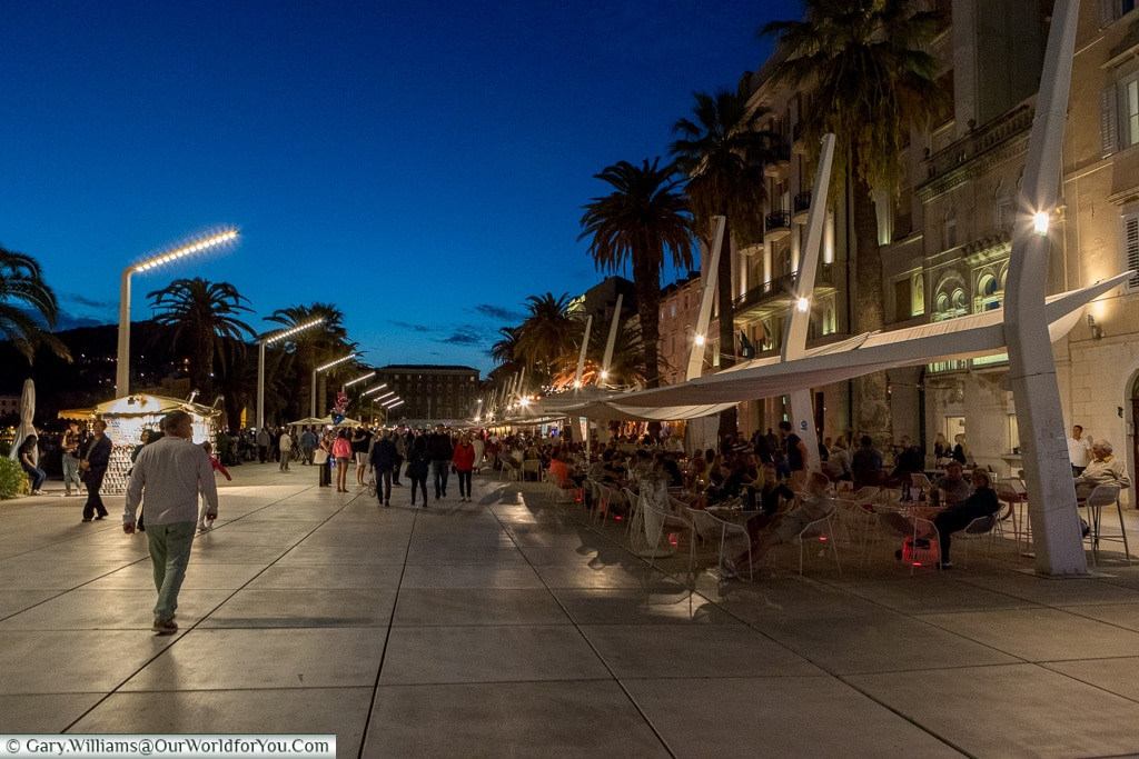 Strolling along the Riva, Split, Croatia