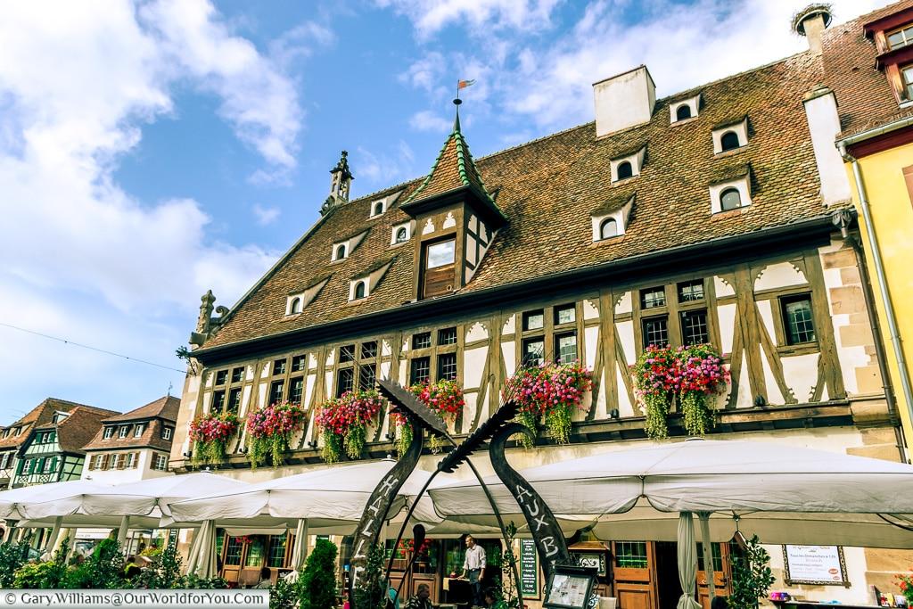 The Corn Exchange - Now a restaurant, Obernai, Alsace, France