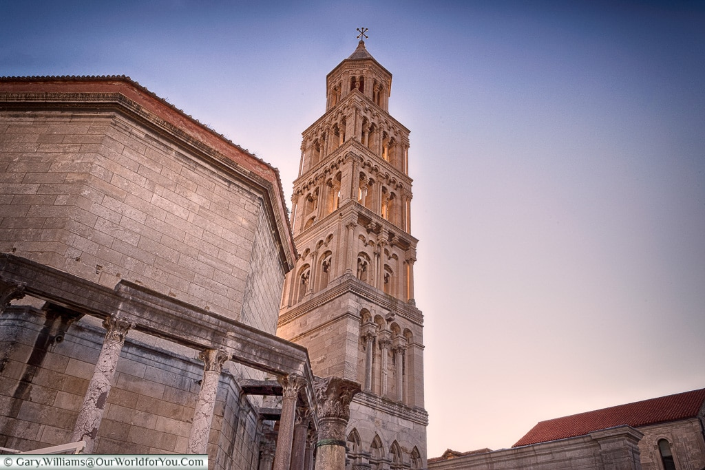 The Tower at dusk, Split, Croatia