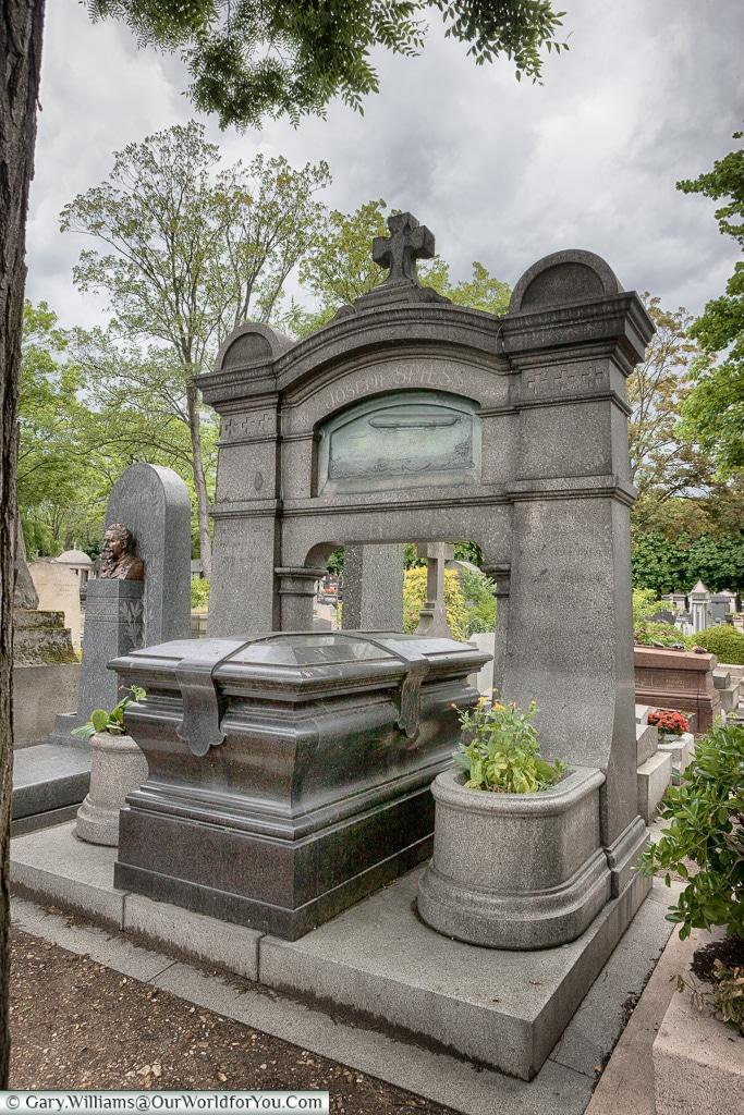 The last resting place of Joseph Spiess Père Lachaise Cemetery, Paris, France