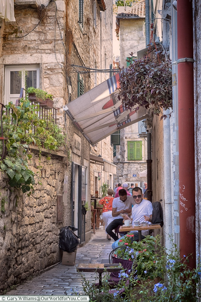 The narrow lanes of Split, Croatia