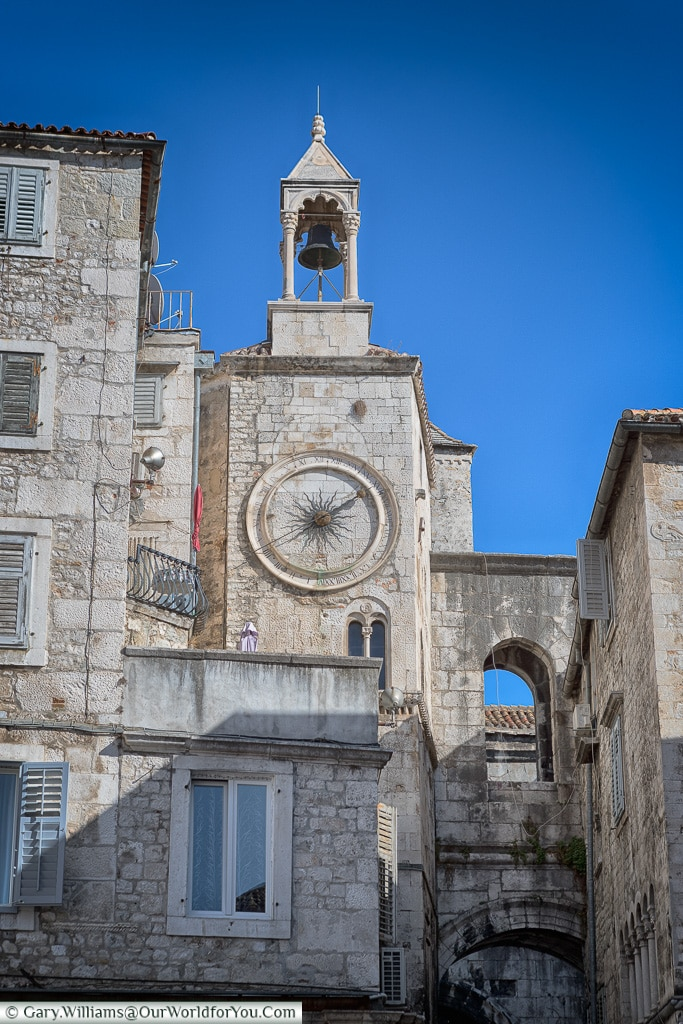 The sundial clock, Split, Croatia