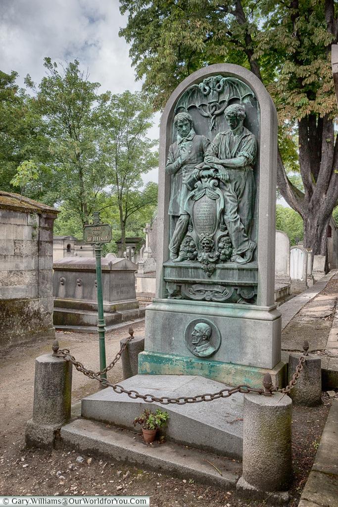 Victor Schœlcher's grave, Père Lachaise Cemetery, Paris, France