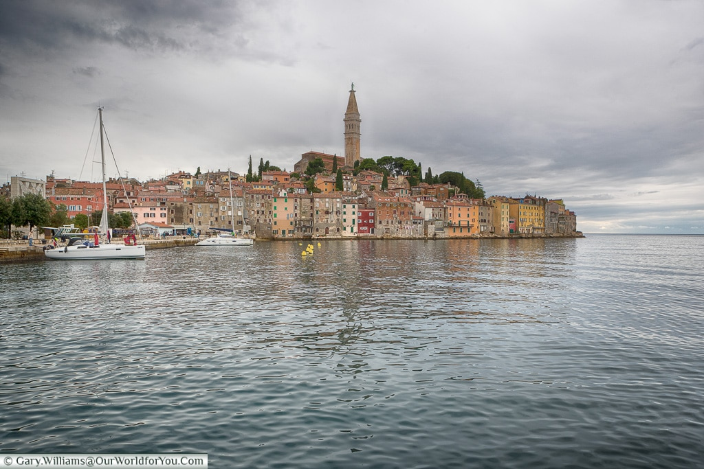 View from the harbour front, Rovinj, Croatia