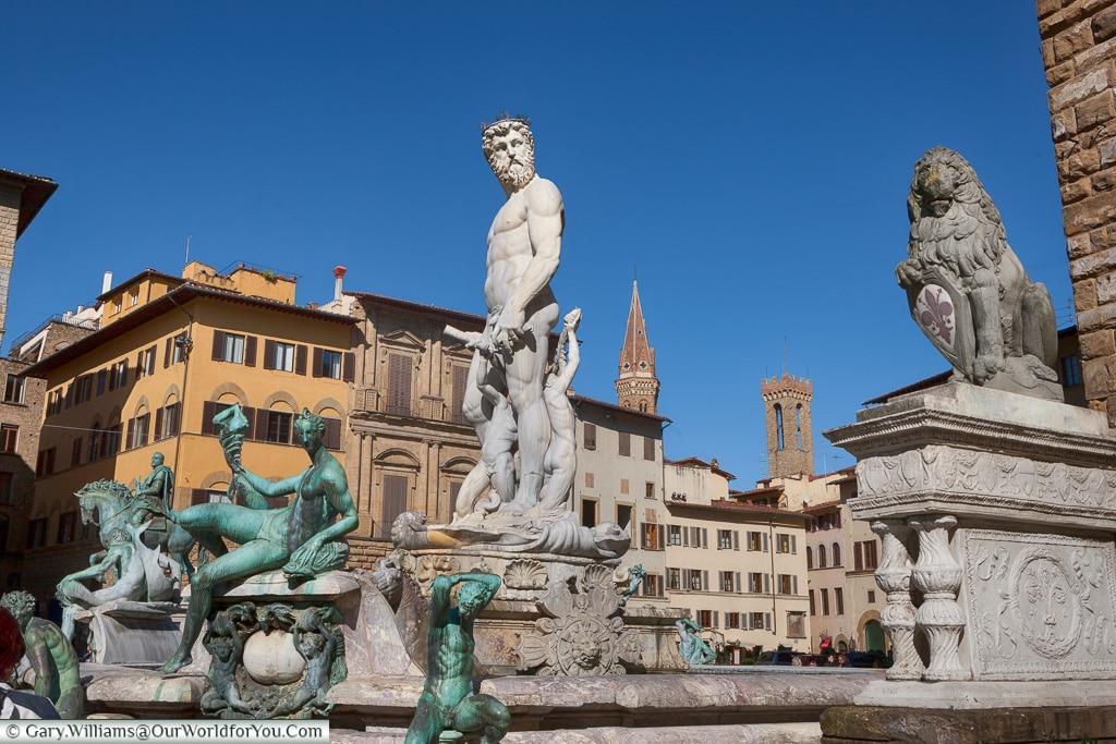 Fountain of Neptune, Florence, Tuscany, Italy