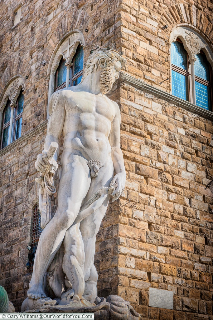 In front of the Palazzo Vecchio, Florence, Tuscany, Italy