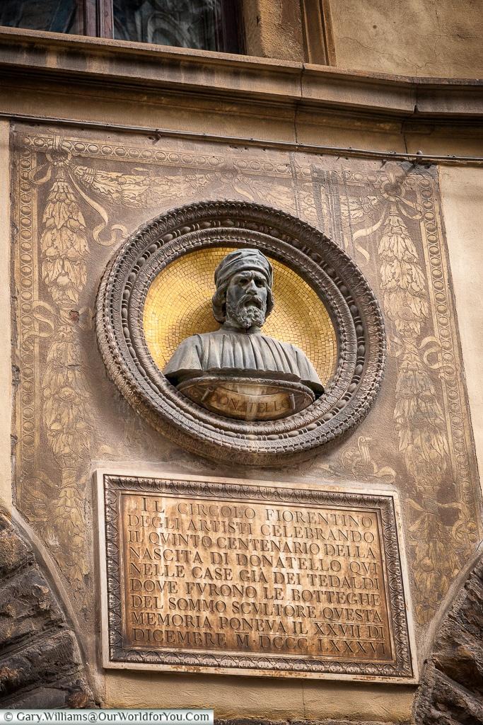 Monument to Donatello, Florence, Tuscany, Italy