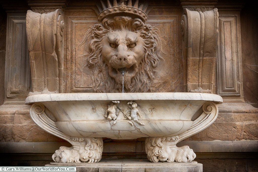 The Lion fountain, Florence, Tuscany, Italy